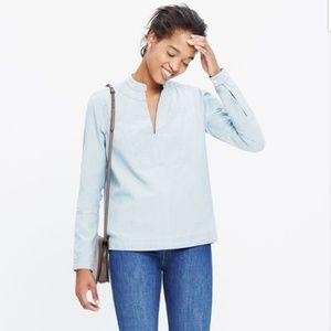 Madewell chambray popover shirt